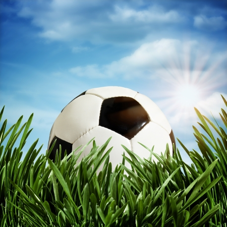 Abstract football or soccer backgrounds photo