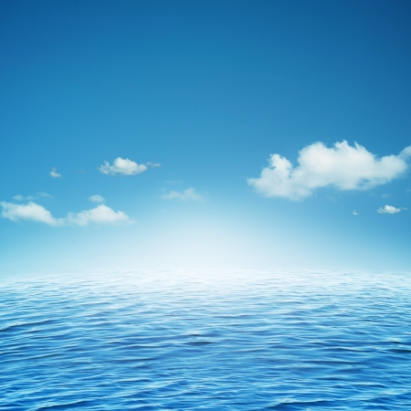 water scape: Sky and ocean. Abstract natural backgrounds