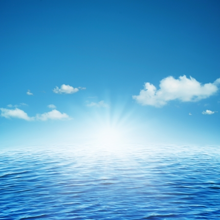 water scape: Rising sun. Abstract natural backgrounds