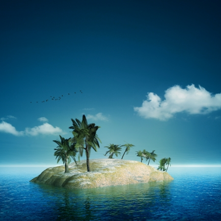 On the island. Abstract sea and ocean backgrounds photo