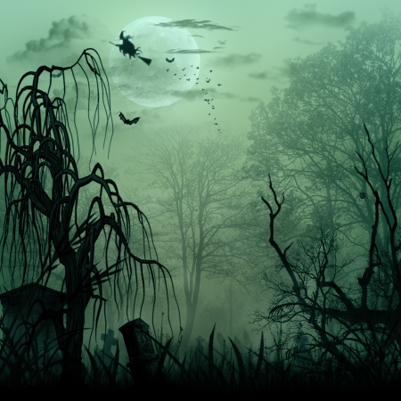 Abstract Halloween backgrounds with copy space for your design photo