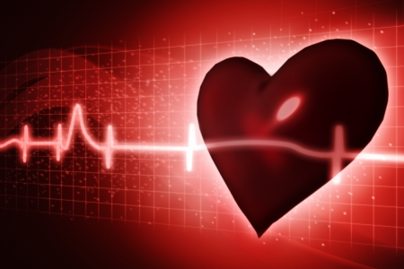 ECG abstract backgrounds with human 3D rendered heart Stock Photo - 15071204
