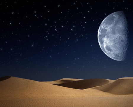 moon  desert: Desert on the night, abstract natural backgrounds