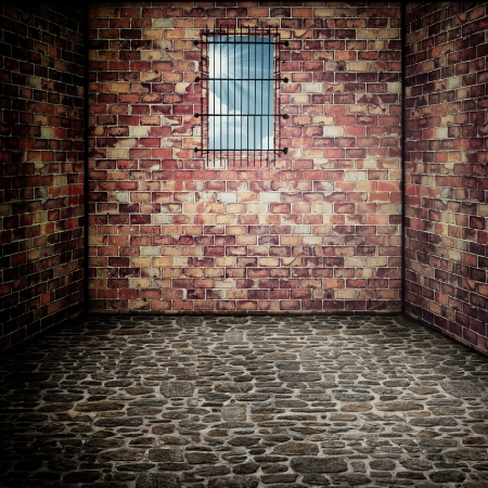 Prison. Abstract architectural backgrounds for your design photo