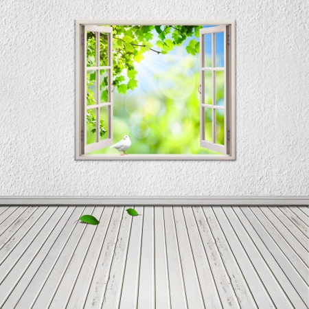 old window: Abstract architectural backgrounds for your design