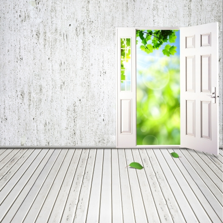 door leaf: Abstract architectural backgrounds for your design