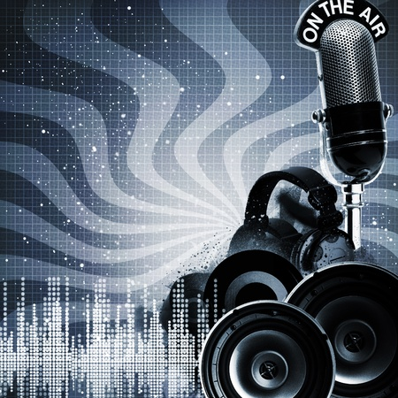 audio: Abstract DJ backgrounds with copy-space for your design Stock Photo