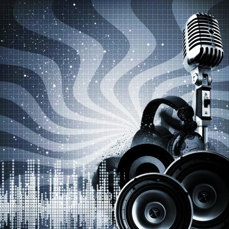 geluid: Abstract DJ achtergronden met exemplaar-ruimte voor uw ontwerp Stockfoto