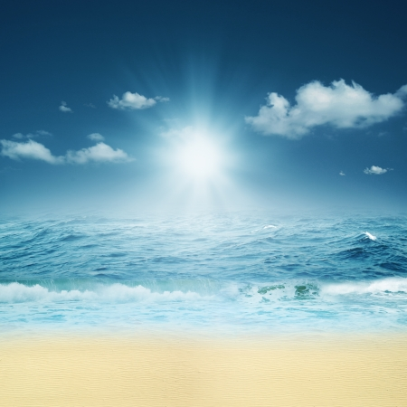 On the ocean. Abstract natural backgrounds for your design photo