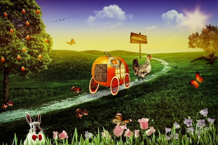 Wonderland. Abstract fairy tale backgrounds for your design photo