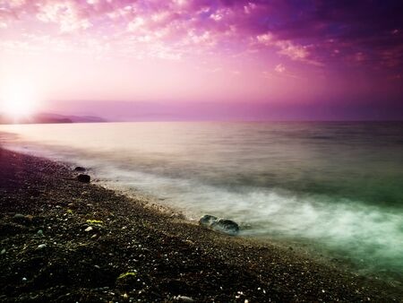 water scape: Beauty sunset on the sea. Natural landscape for your design