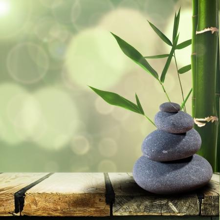 piedras zen: Resumen origen asiático con más de guijarro escritorio de madera