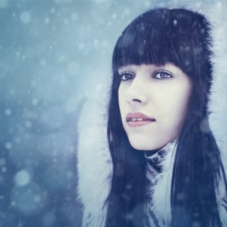 Winter girl. Beauty female portrait photo