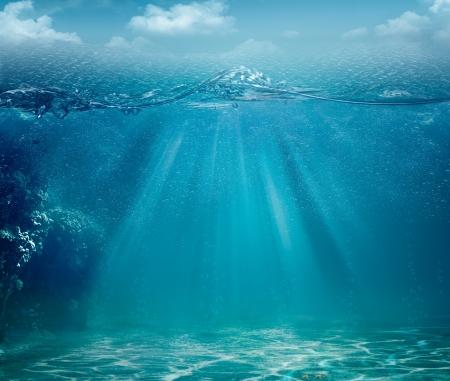 ozean: Abstrakte Meer und Ozean Hintergrund für Ihr Design Lizenzfreie Bilder
