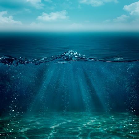fond marin: Abstrait sous-marines pour votre conception Banque d'images