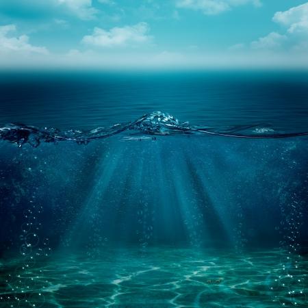 Zusammenfassung Unterwasser Hintergrund für Ihr Design
