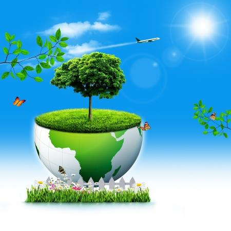 recursos naturales: Salvar la Tierra. Abstract backgrounds Eco para su diseño