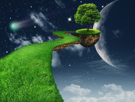 the natural world: In the Moon light. Fantasy abstract backgrounds for your design Stock Photo