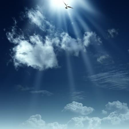 Weg naar de hemel. Abstracte spirituele achtergronden voor uw ontwerp Stockfoto