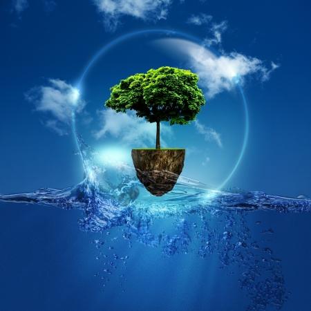 Wereld in de bubble Abstracte natuurlijke achtergrond voor uw ontwerp Stockfoto