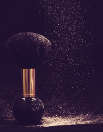 weightless: Powder dreams. Abstract makeup and cosmetic backgrounds
