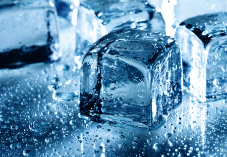 Ice with water droplets over abstract wet background Stock Photo - 17655876