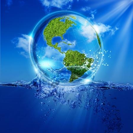 水からの生活。あなたのデザインのための抽象的なエコ背景