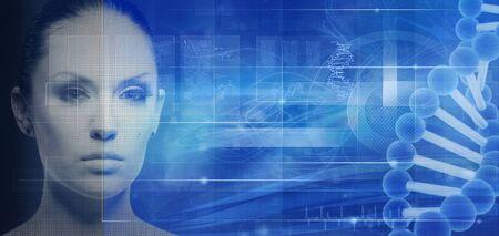 adn humano: La biotecnología y la ingeniería genética fondos abstractos para su diseño