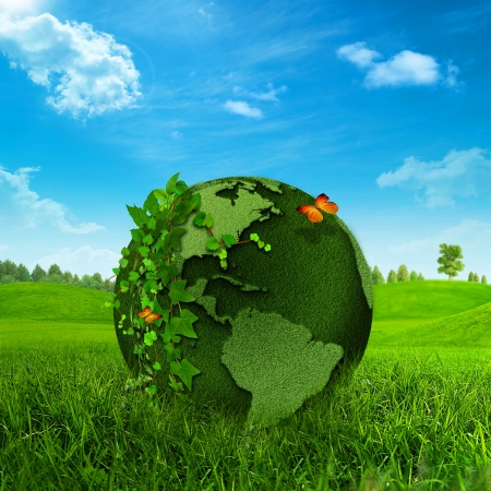Green Earth  Abstract environmental backgrounds Stock Photo - 18245738