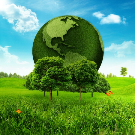 Green Earth  Abstract environmental backgrounds Stock Photo - 18245742