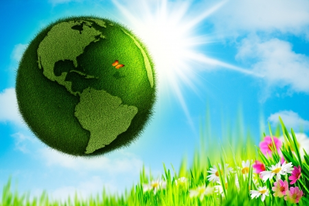 mankind: Green Earth  Abstract environmental backgrounds