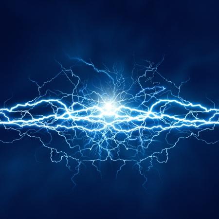 rayo electrico: Efecto de iluminaci�n el�ctrica, fondos abstractos del techno para su dise�o Foto de archivo