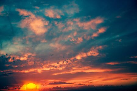 Fantastic evening, abstract natural backgrounds photo