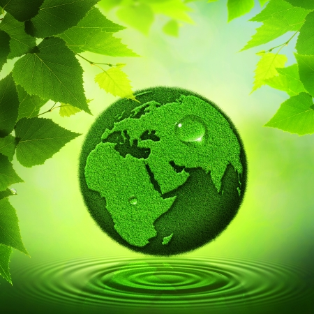 Green Earth  Abstract environmental backgrounds photo