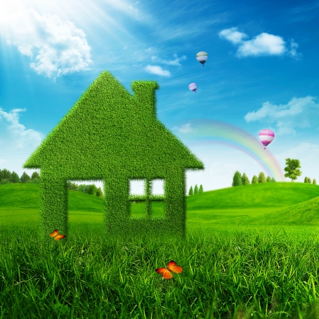 Eco House  Abstract environmental backgrounds Stock Photo - 18410014