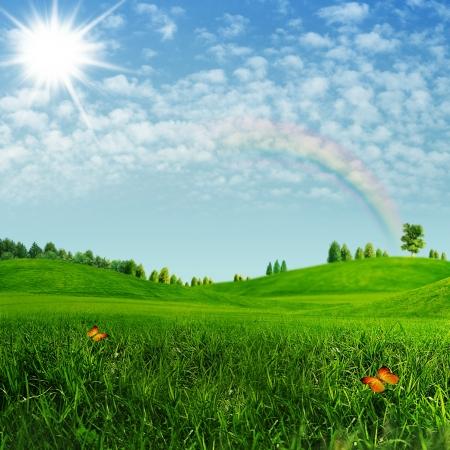 himlen: Skönhets sommardäck Abstract miljömässiga bakgrunder Stockfoto