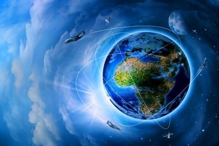 미래의 우주 수송 및 기술, 추상적 인 배경 스톡 콘텐츠