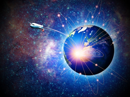 Space transportation and technologies in the future, abstract backgrounds Stock Photo - 18702143