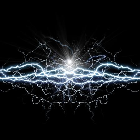 rayo electrico: Poder de la luz. Resumen antecedentes ambientales Foto de archivo