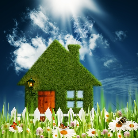 Green House. Environmental backgrounds for your design photo