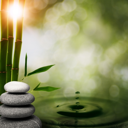 meditation stones: Abstract oriental backgrounds for your design Stock Photo