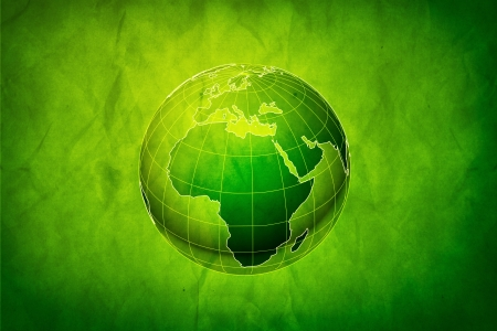 Green Earth concept, abstract grungy backgrounds with cardboard texture Stock Photo - 19594628