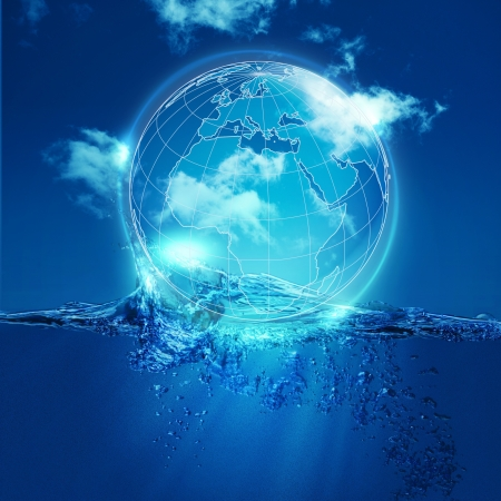 Whole world into the water bubble, environmental backgrounds photo
