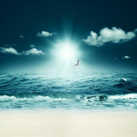 Schöne Meer. Abstract marine Hintergründe für Ihr Design