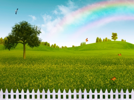 Countryside, abstract natural landscape for your design Stock Photo