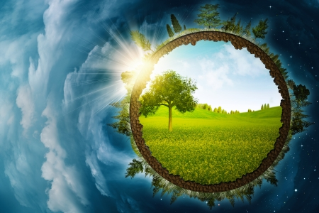 save the planet: Infinity inside, abstract environmental backgrounds