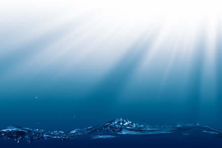 wit: Deep Ocean, abstract environmental backgrounds wit copyspace