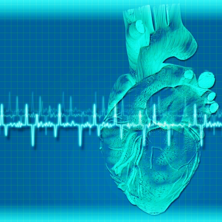 Abstract health and medical backgrounds with human heart photo