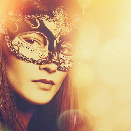 mascaras de carnaval: Carnaval, Resumen retrato femenino para su dise�o Foto de archivo