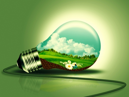 Concept d'énergie renouvelable pour votre conception Banque d'images - 21370759